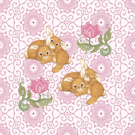 bunnies fabric by krs_expressions on Spoonflower - custom fabric