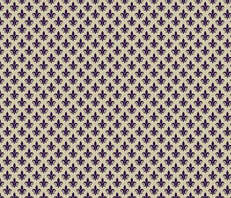 Regal Fleur de Lis  fabric by nola_original on Spoonflower - custom fabric