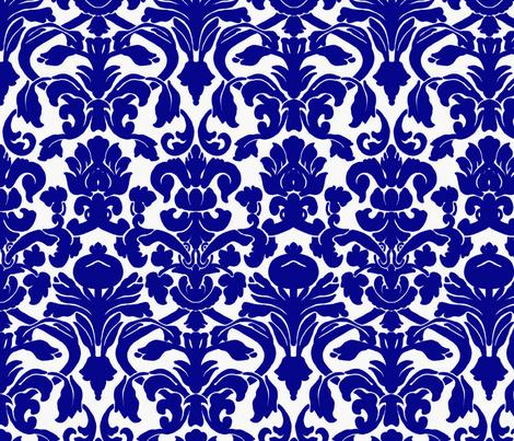 Damask_Cobalt_Blue fabric by nola_original on Spoonflower - custom fabric