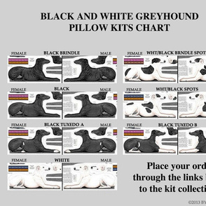 Greyhound kits - links to cut and sew fabrics