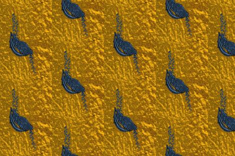 Seeds dark gold + blue fabric by darci on Spoonflower - custom fabric