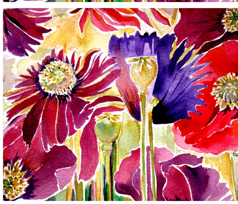 poppy_nnnnn7 fabric by geaausten on Spoonflower - custom fabric