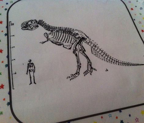 Bohemian Dinosaur | Vintage T-Rex Skeleton Rainbow Stars Quilt Blocks