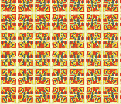 Gee's Bend Inspired Block  fabric by lovesunnylauren on Spoonflower - custom fabric