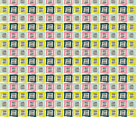 Blocks & Lines fabric by lovesunnylauren on Spoonflower - custom fabric