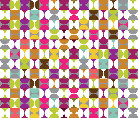 Mod Hourglass fabric by cynthiafrenette on Spoonflower - custom fabric