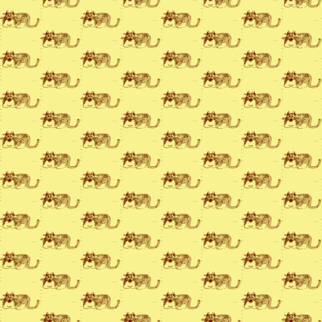 Kilpatrick Yellow fabric by amyvail on Spoonflower - custom fabric