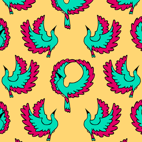 Fiesta Birds fabric by pond_ripple on Spoonflower - custom fabric