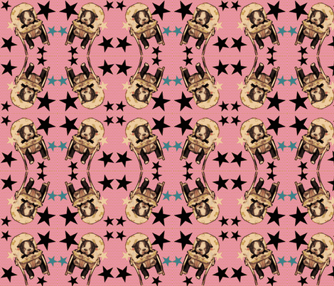 Boozier the Boston Terrier  PUP fabric by janshackelford on Spoonflower - custom fabric
