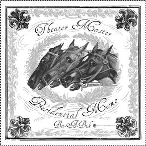 Equestrian bandana: White