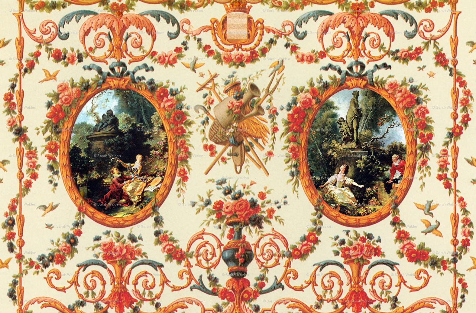 Rococo Lovers Seasons Of Love Wallpaper