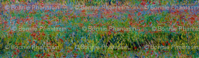 Claude Monet - Poppy Field - Seamless