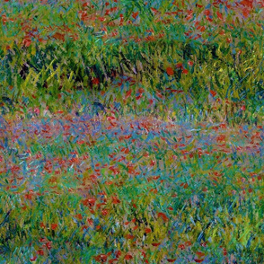 Claude Monet - Poppy Field - Seamless
