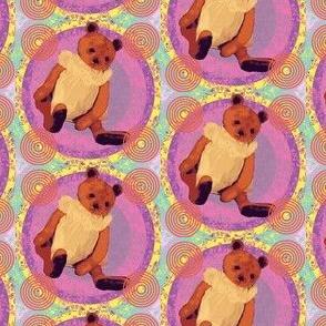 Teddy bear Bernadette purple-ch