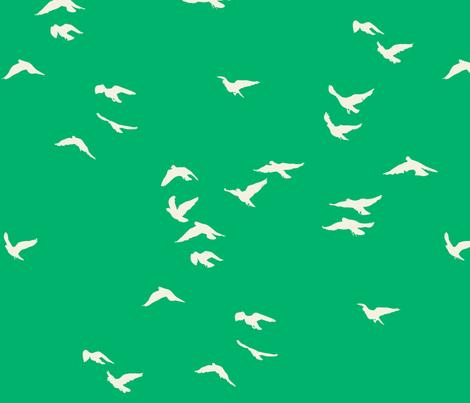 Emerald Flock fabric by bunni on Spoonflower - custom fabric