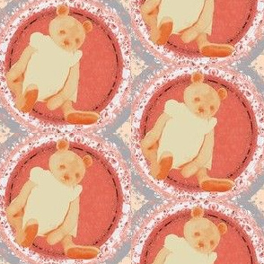 Teddy Bear Bernadette Peach