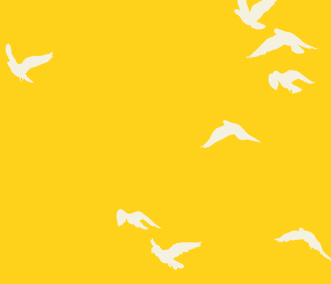 Sunshine Flock fabric by bunni on Spoonflower - custom fabric