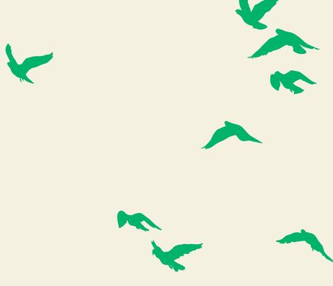 Emerald Flock Reversed fabric by bunni on Spoonflower - custom fabric