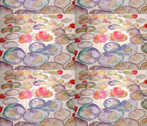 lotus_pond_9_by_geaausten-d5stpnn fabric by geaausten on Spoonflower - custom fabric