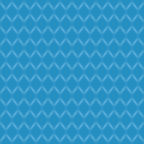 Blue Ogee fabric by robyriker on Spoonflower - custom fabric