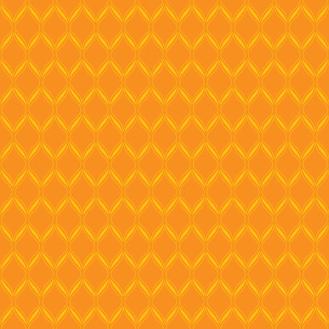 Orange Ogee fabric by robyriker on Spoonflower - custom fabric