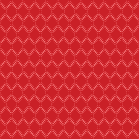 Red Ogee fabric by robyriker on Spoonflower - custom fabric