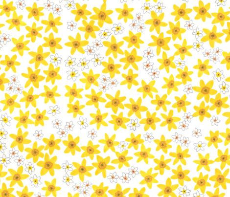 Daffodil  fabric by jo_clark on Spoonflower - custom fabric