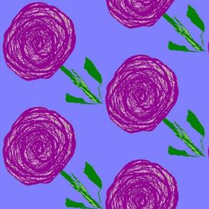 Purple Rain Flowers, larger