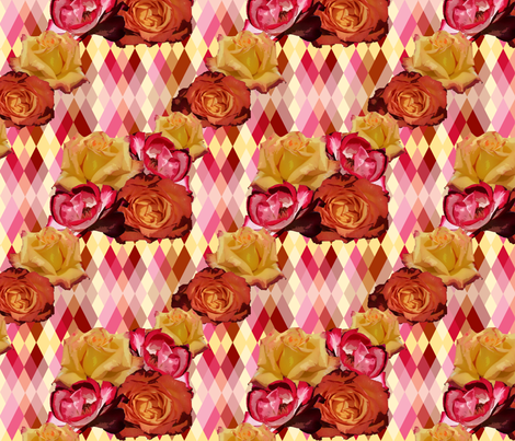 Spring Blooms Harlequin fabric by fentonslee on Spoonflower - custom fabric