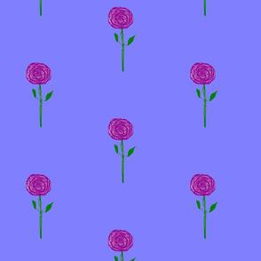 Purple Rain Flowers, straight up, small