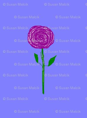 Purple Rain Flowers, straight up, large