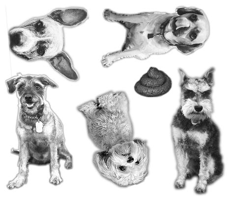 The BarkBox Office Dogs fabric by barkboxstacie on Spoonflower - custom fabric