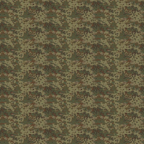 1/6 Scale Oak Multicam Camo