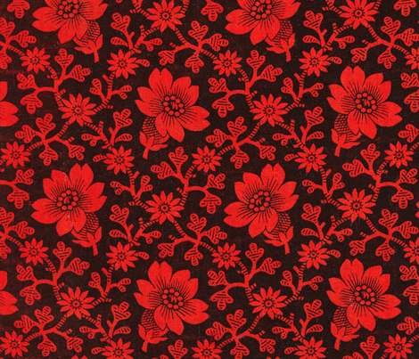 Pre-Revolutionary Floral cloth fabric by tomhaggerty on Spoonflower - custom fabric