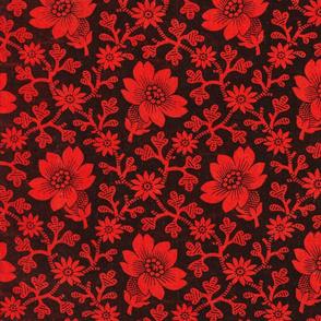 Pre-Revolutionary Floral cloth