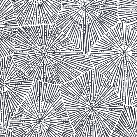extra-large petoskey stone in black and white fabric by weavingmajor on Spoonflower - custom fabric