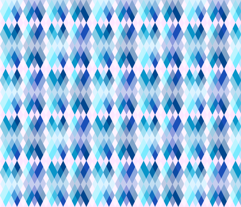 Spring Blooms Argyle Blue fabric by fentonslee on Spoonflower - custom fabric