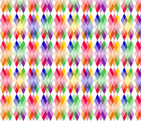 Rainbow  Kite Argyle fabric by fentonslee on Spoonflower - custom fabric