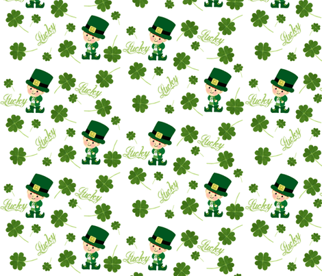 Lucky  / 4 leaf clover fabric by paragonstudios on Spoonflower - custom fabric