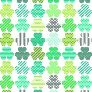 Shamrock fabric wallpaper gift wrap spoonflower shamrock shuffle voltagebd Image collections