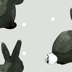 cestlaviv_bunny Tuxedo on gray
