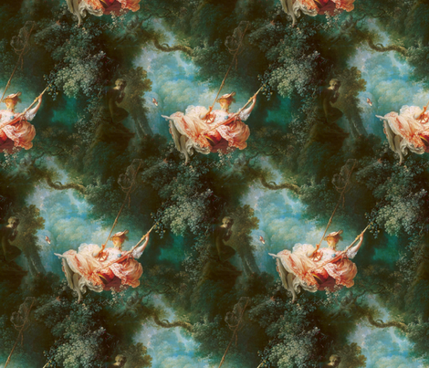 Rococo Swingers ~ The Swing fabric by peacoquettedesigns on Spoonflower - custom fabric
