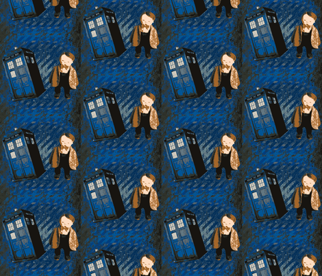 Dr. Who Jan Shackelford Baby Art fabric by janshackelford on Spoonflower - custom fabric