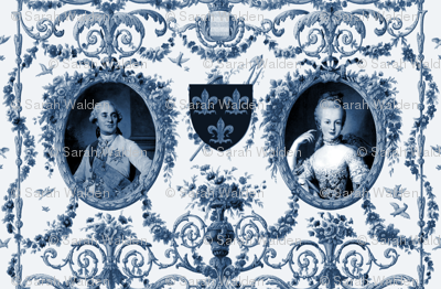 Rococo Lovers ~ Louis XVI and Marie Antoinette ~ Blue
