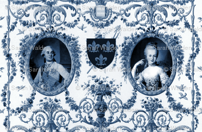 Rococo Lovers ~ Louis XVI and Marie Antoinette ~ Blue and White