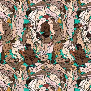 Naked Ladies Fabric
