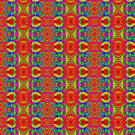 Orange blue daisies-1 fabric by dk_designs on Spoonflower - custom fabric