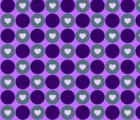 Purple Hearts fabric by dharper26 on Spoonflower - custom fabric