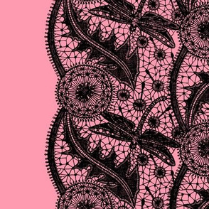 Dragonfly Lace ~ Tiers ~ Pink & Black ~ ELOISE!