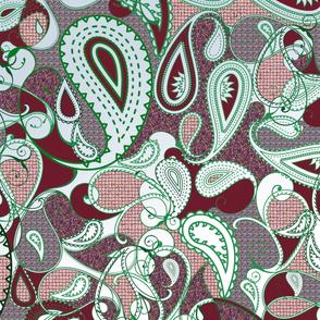 Cranberry Paisley